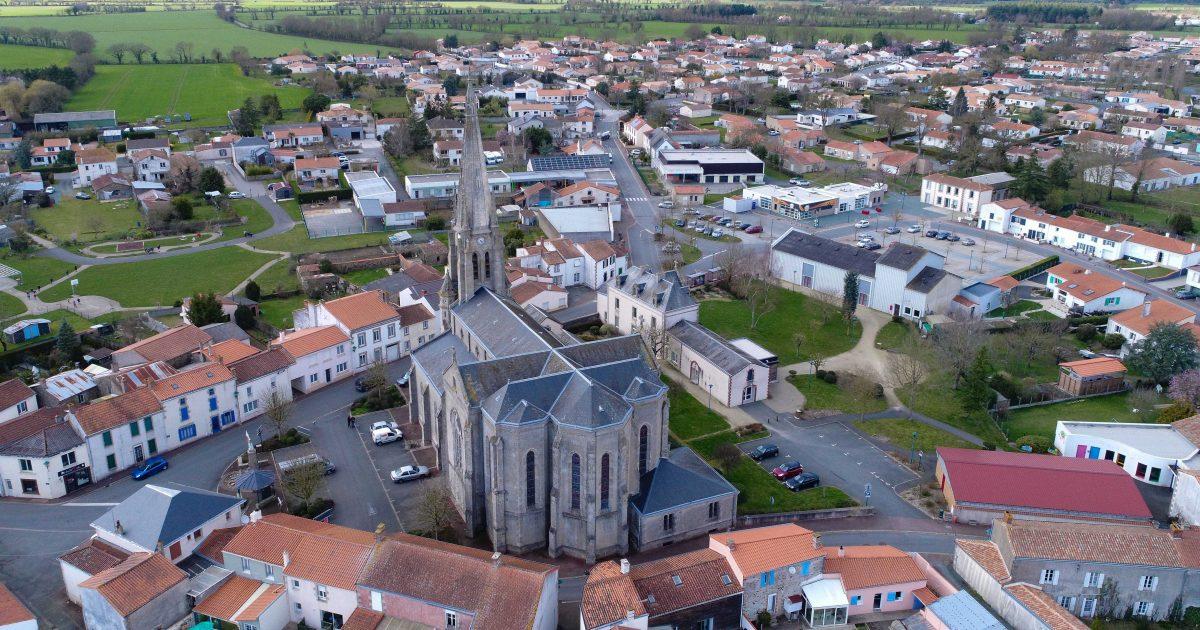 Image - Vue aérienne de la Boissière-de-Montaigu
