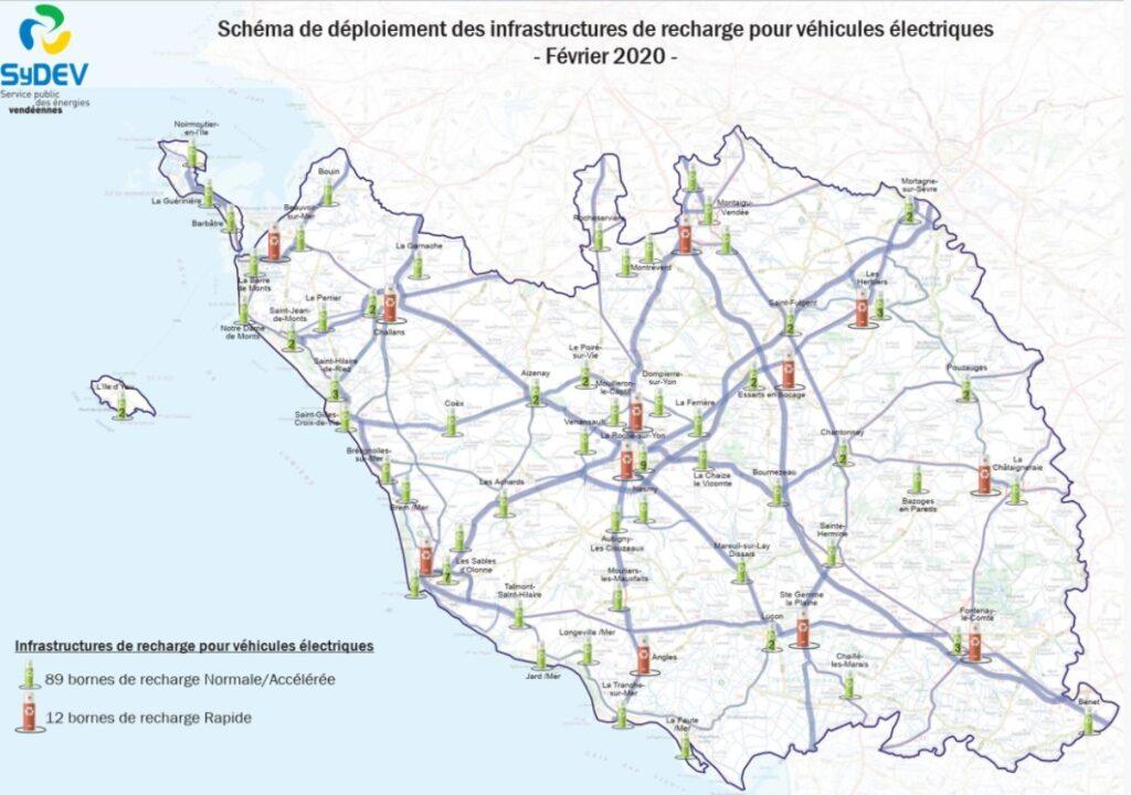 schéma déploiement bornes électriques 2021